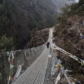 One of the many suspension bridges we crossed